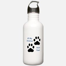 All My Children Have Paws 1 Water Bottle