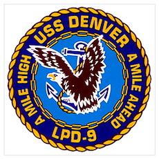 USS Denver LPD-9 Navy Ship Poster