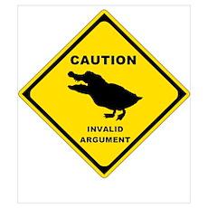 Caution: Invalid Argument Poster