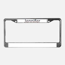 Jennifer Stars and Stripes License Plate Frame