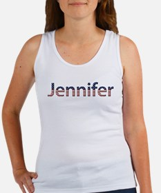 Jennifer Stars and Stripes Women's Tank Top