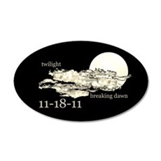 Twilight Breaking Dawn 38.5 x 24.5 Oval Wall Peel