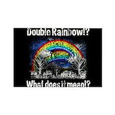 Double Rainbow, Worn Rectangle Magnet