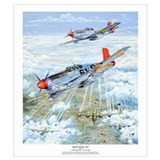 P 51 mustang Framed Prints