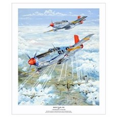 Tuskegee Airman P-51 Mustang Poster