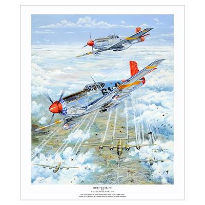 Tuskegee Airman P-51 Mustang Poster