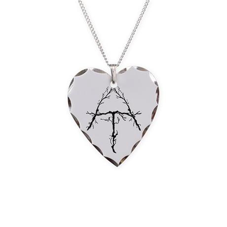 Appalachian Trail Twigs Necklace Heart Charm