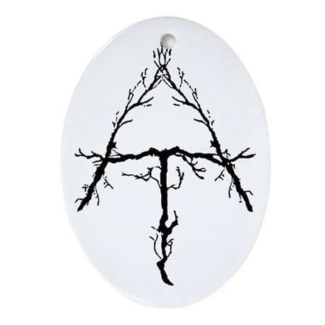 Appalachian Trail Twigs Ornament (Oval)