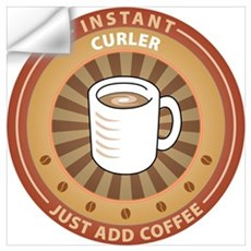 Instant Curler Wall Decal