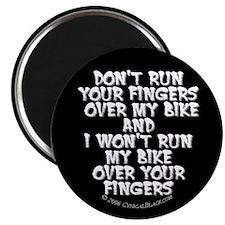 Fingers on Bike Magnet