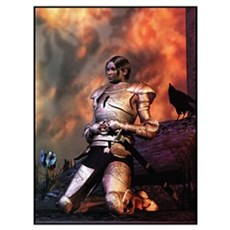 Joan of Arc before God Canvas Art