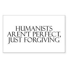 Humanists aren't Perfect, Jus Sticker (Rectangular