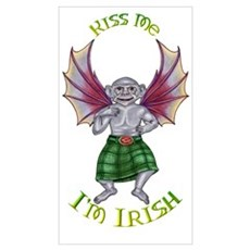 Kiss Me I'm Irish Monkey Poster