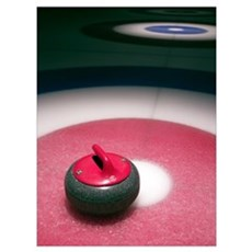 Curling Stone Poster