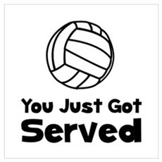 Volleyball Served Poster