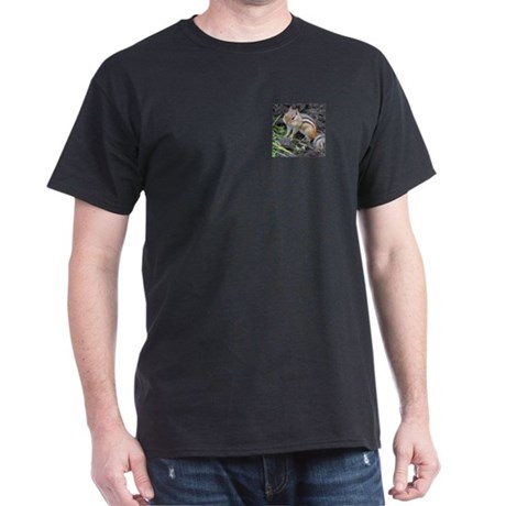 Cheeky Chipmunk Black T-Shirt