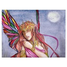 Moonlight fairy detail Framed Print