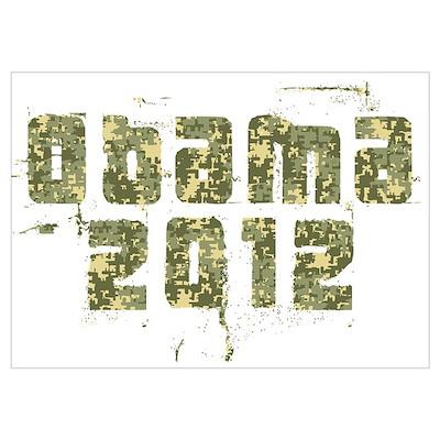Obama 2012 Camo Poster