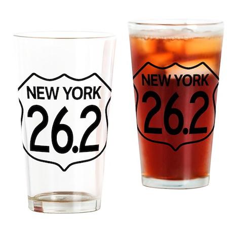 New York Marathon Drinking Glass