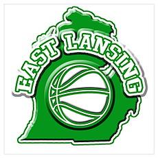 East Lansing Basketball Poster