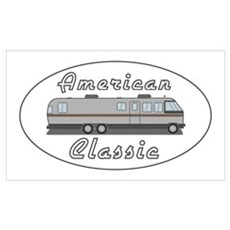 Classic Airstream Motor Home Poster