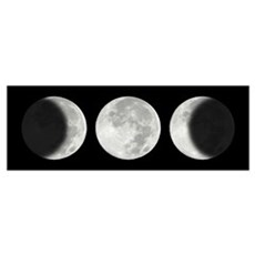 Three Phase Moon Canvas Art