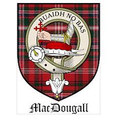 MacDougall Clan Crest Tartan Poster
