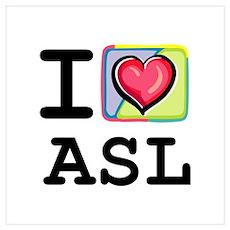 I Love ASL 1 Poster