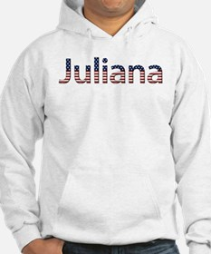 Juliana Stars and Stripes Hoodie Sweatshirt
