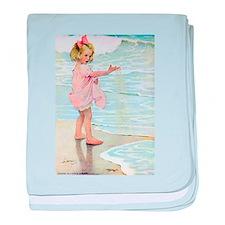 Seashore baby blanket