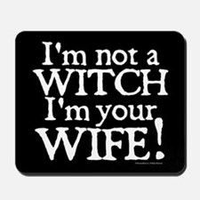 Witch Wife Princess Bride Mousepad