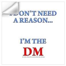DM - Reason Wall Decal