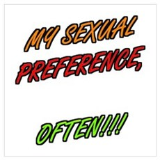 SEXUAL PREFERENCE-OFTEN 4 Poster