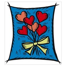 Bouquet of Hearts Poster