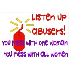 Message To Abusers Poster
