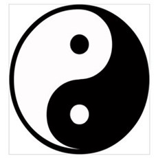 Yin Yang Symbol Canvas Art