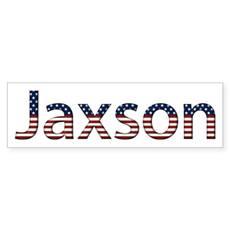Jaxson Stars and Stripes Bumper Sticker