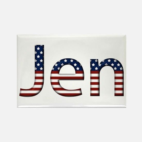 Jen Stars and Stripes Rectangle Magnet