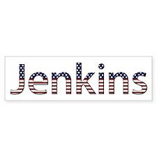Jenkins Stars and Stripes Bumper Bumper Sticker