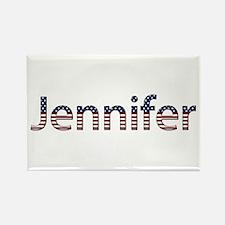 Jennifer Stars and Stripes Rectangle Magnet