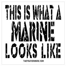 This is What a MARINE Looks L Poster