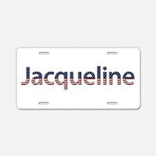 Jacqueline Stars and Stripes Aluminum License Plat