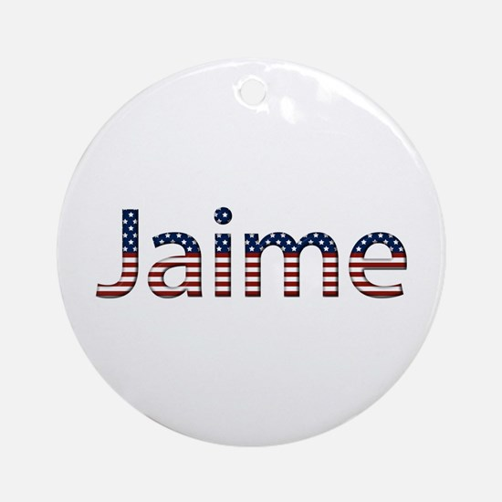 Jaime Stars and Stripes Round Ornament