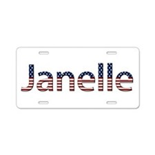 Janelle Stars and Stripes Aluminum License Plate