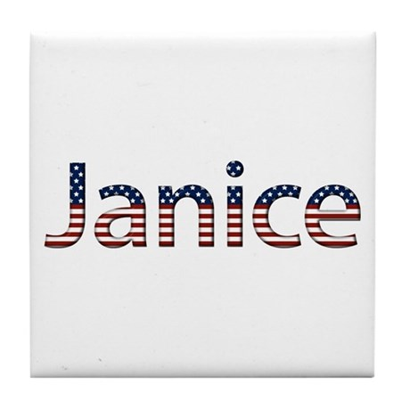 Janice Stars and Stripes Tile Coaster