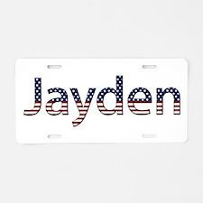Jayden Stars and Stripes Aluminum License Plate