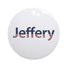 Jeffery Stars and Stripes Round Ornament
