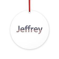 Jeffrey Stars and Stripes Round Ornament