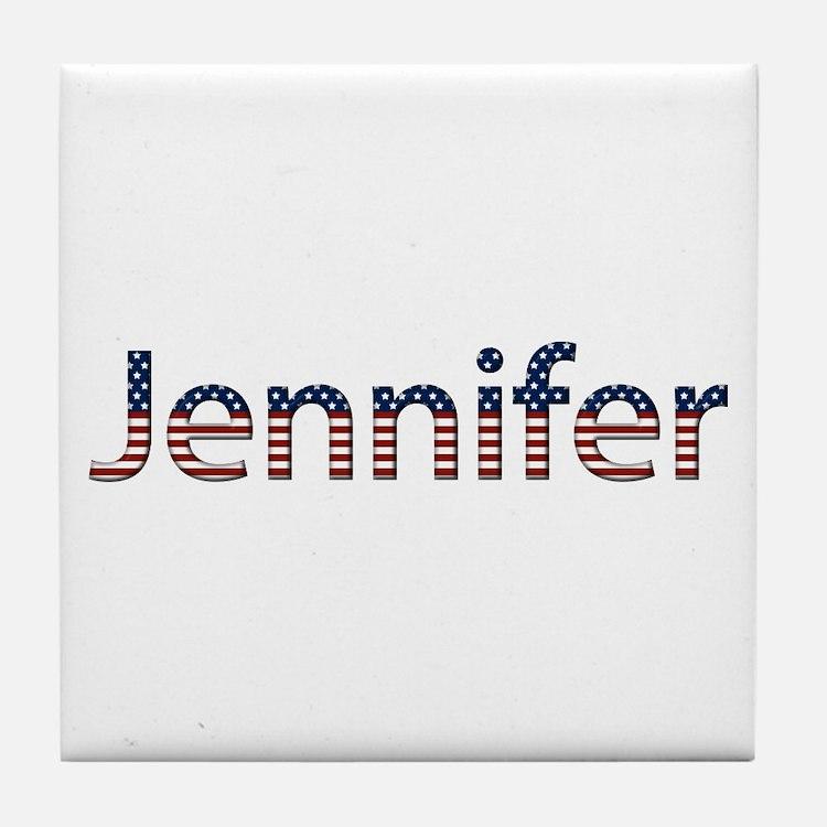 Jennifer Stars and Stripes Tile Coaster