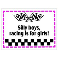 Silly Boys, Racing Is For Girls! Poster